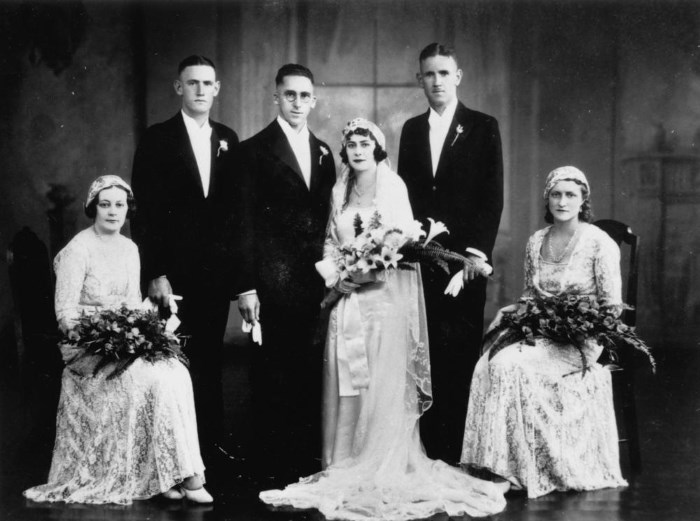 old photo of a wedding